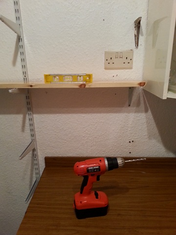 Under Construction: Levelling the shelves