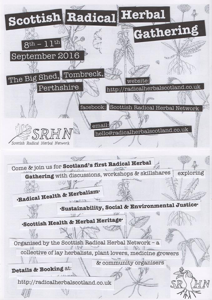 Scottish Radical Herb Gathering Poster