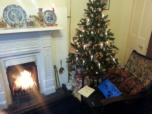 Greetings from our fireside to yours this Christmas